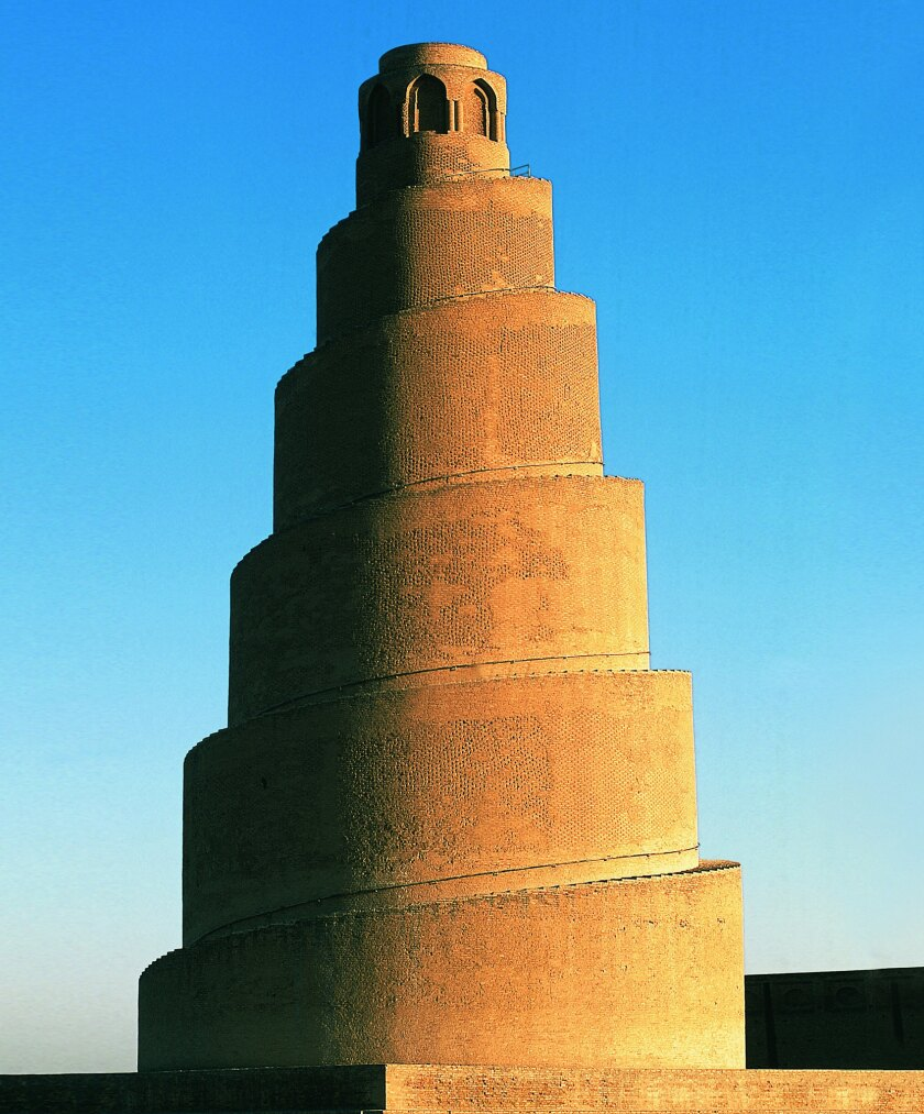 "A photograph featured in Phaidon's book ""Brick"" of Malwiya Minaret, Samarra, Iraq, 851."