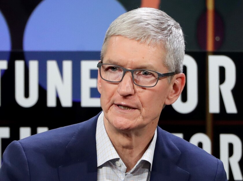 Apple CEO Tim Cook stood by the high prices of the new iPhones.