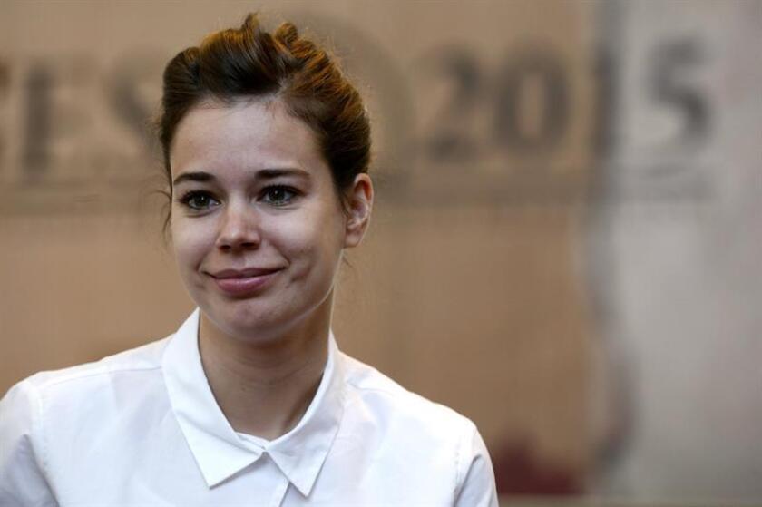 """Fotografía de la actriz española Laia Costa quien participa en el rodaje de la película """"Duck Butter"""". EFE/Archivo"""