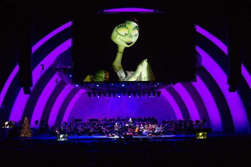 """The Nightmare Before Christmas"" at the Hollywood Bowl"
