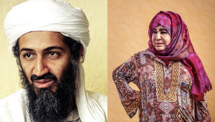 Alia Ghanem, la madre del terrorista saudí Osama bin Laden.