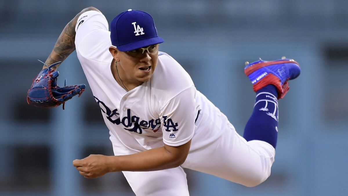 Dodgers' Julio Urias pitches two innings in first appearance