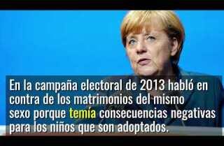 Angela Merkel cambia opinión sobre matrimonio gay