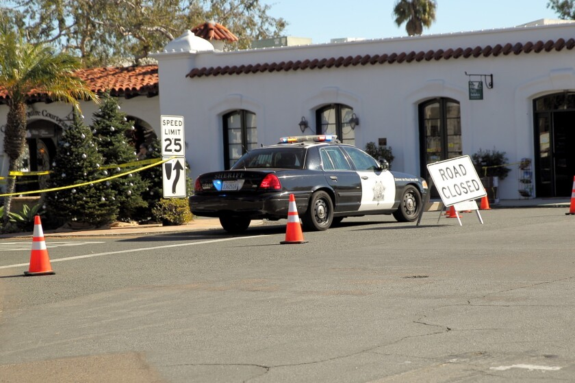 A portion of Paseo Delicias was closed Dec. 3 when deputies were called to the 6000 block of Paseo Delicias for reports of a person yelling and breaking things.