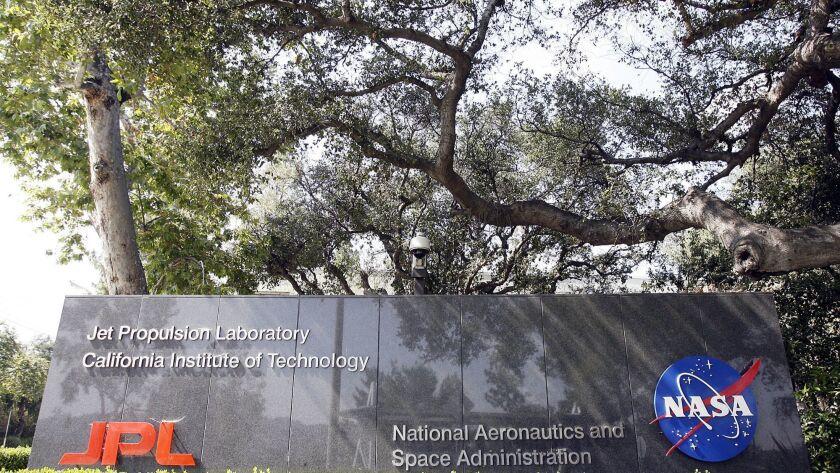The entry sign at JPL in La Canada Flintridge on Monday, June 4, 2012. (Tim Berger/Staff Photographe