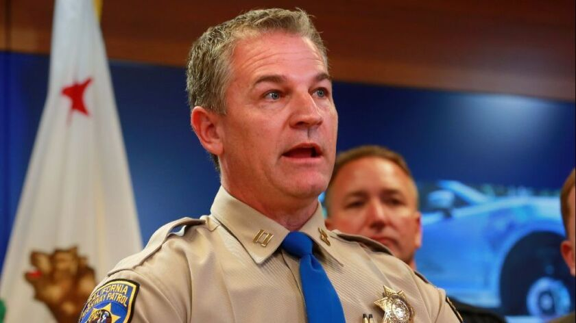 """California Highway Patrol Capt. Don Goodbrand, head of the Regional Auto Theft Task Force, talks about """"Operation Kwik Boost,"""" a nearly yearlong effort targeting stolen vehicle thieves."""