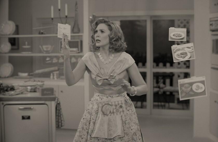 """Elizabeth Olsen as Wanda Maximoff in """"WandaVision."""""""