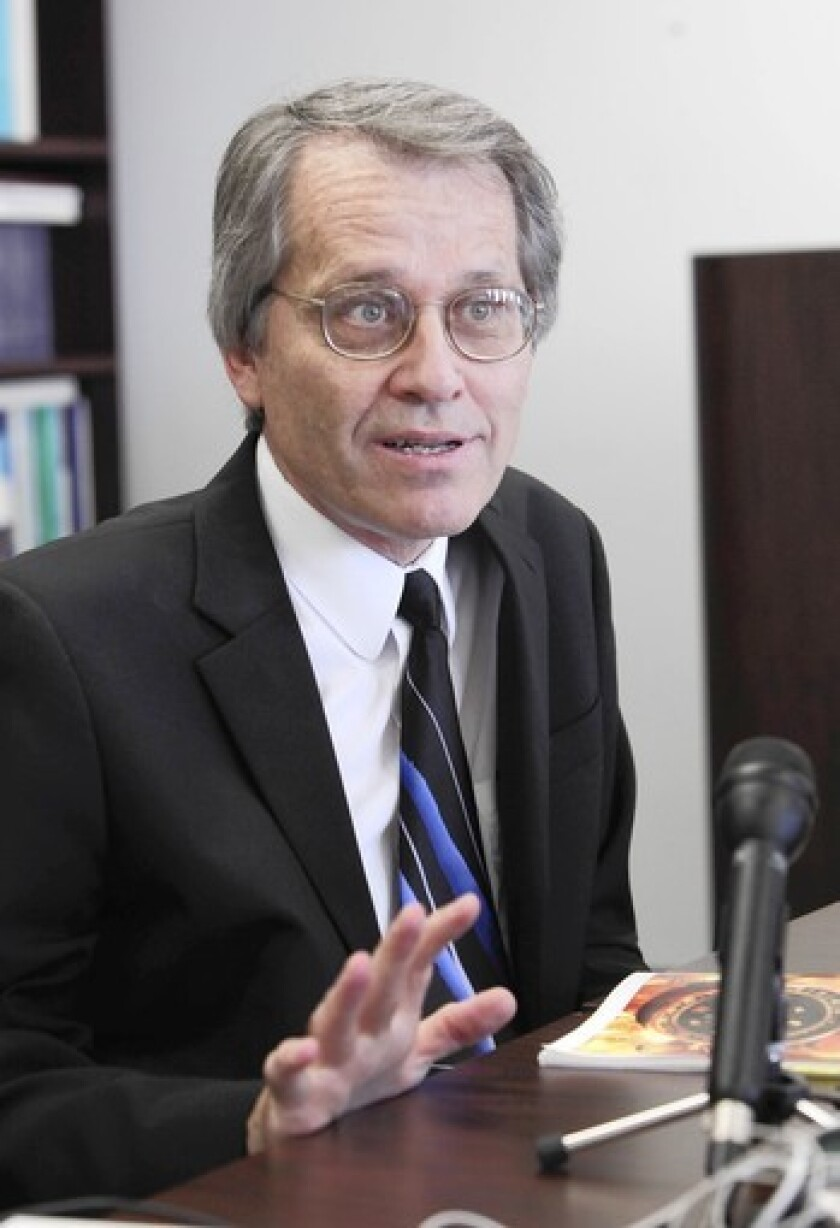 Legislative Analyst Mac Taylor is seen discussing his office's report on the state's fiscal outlook in Sacramento, Calif.