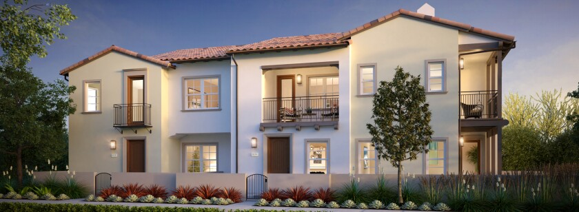 Skyhaus homes, by California West, sit at the peak of the master-planned Rancho Tesoro community and are priced from the high $400,000s. The townhomes are offered in six floor plans that range from 752 to 1,745 square feet.