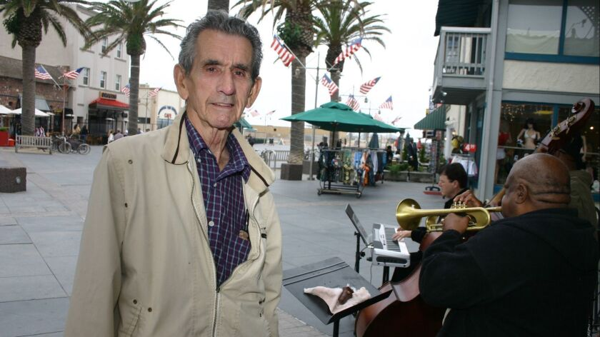 The late Ozzie Cadena, producer and A&R man for Savoy Records and the onetime promoter of the Lighthouse Cafe jazz jam.
