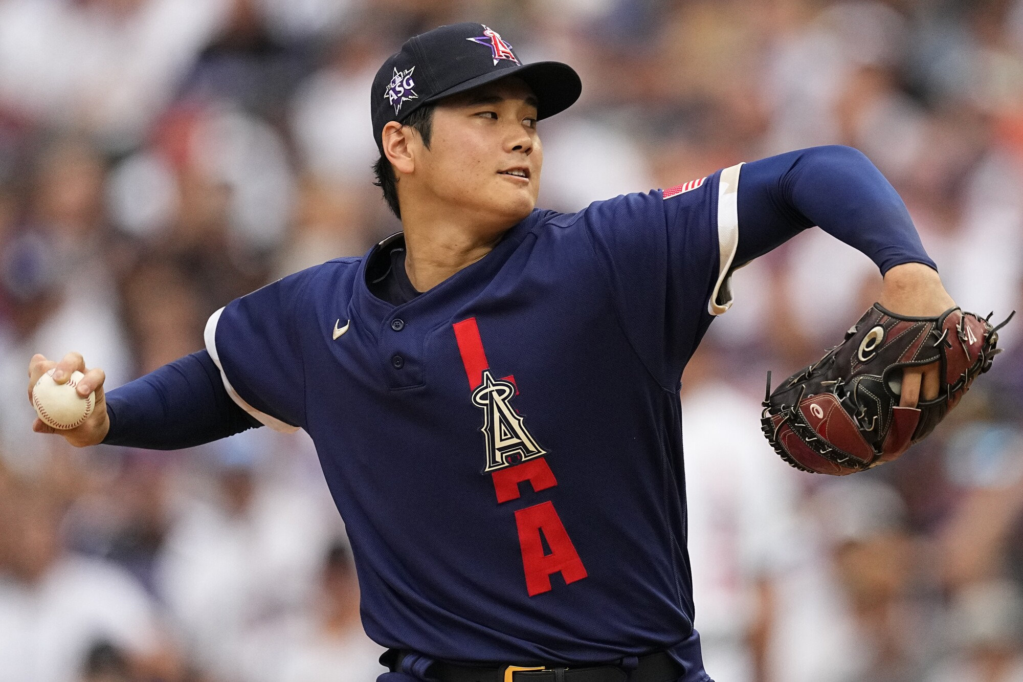 Live coverage of Shohei Ohtani at the MLB all-star game - Los Angeles Times