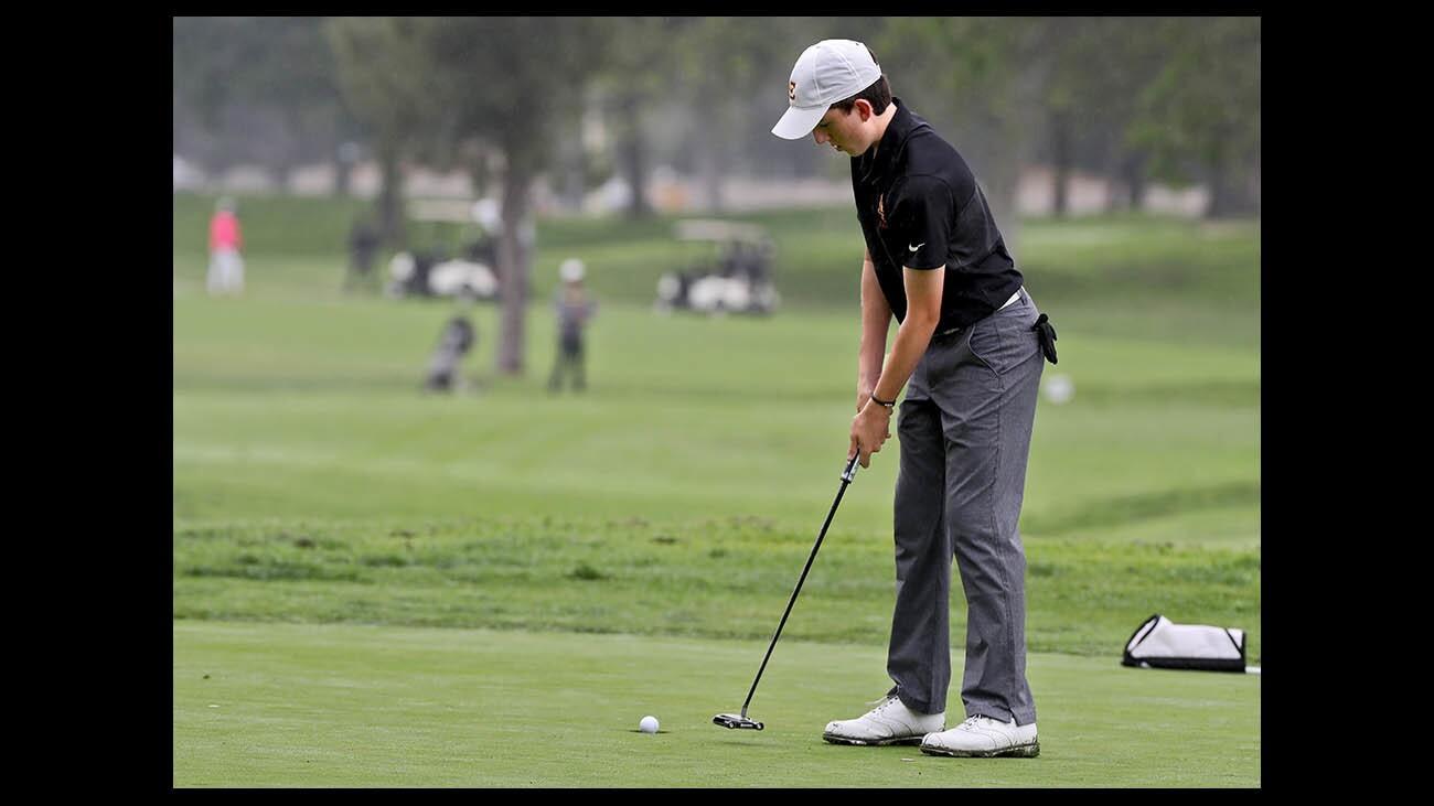 Photo Gallery: La Canada High golfer Ricci in CIF SCGA championship at Brookside Golf Club
