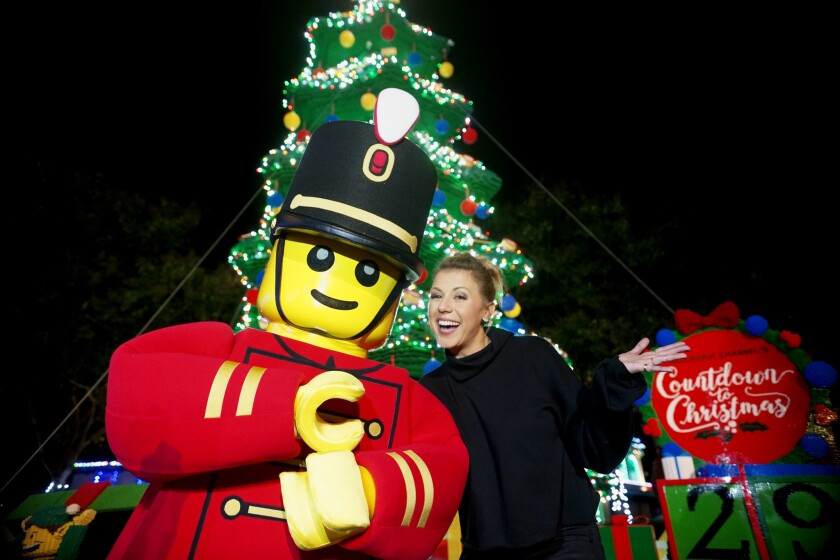 "Legoland California Holiday Tree Lighting on Nov. 26 featured ""Fuller House"" actress Jodie Sweetin."