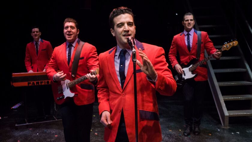 Mark Ballas front and center with, from left, Cory Jeacoma, Matthew Dailey and Keith Hines in the na