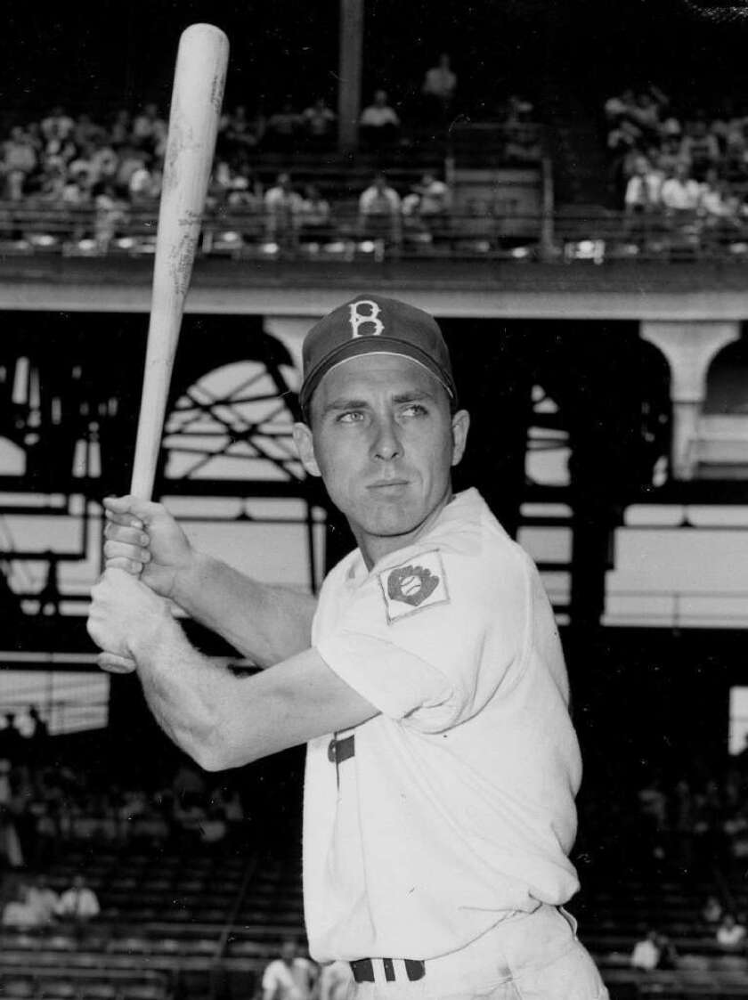 Gil Hodges with Brooklyn in 1951.