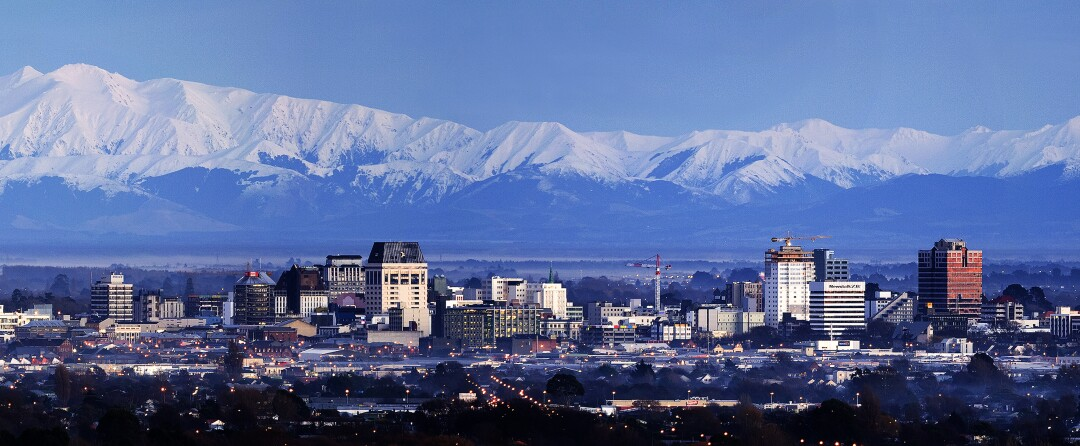 The skyline of Christchurch, New Zealand, before the 2011 earthquake. Officials would later restrict some areas from future development.