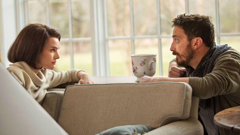 "Natalie Portman and director Pablo Larraín on the set of ""Jackie."""