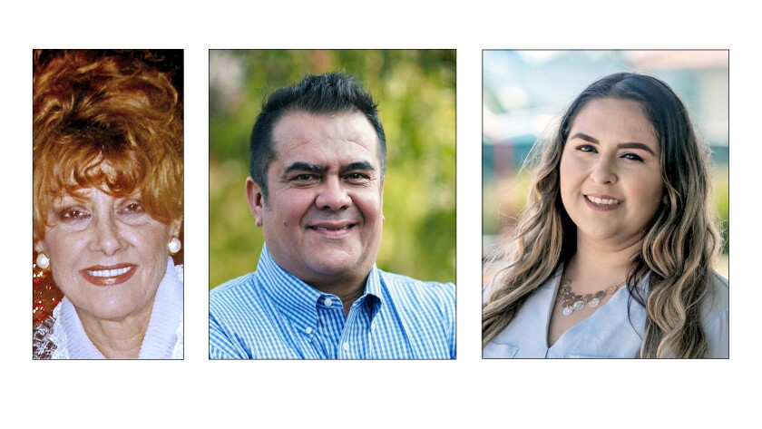 Sandi Smith, Adrian Arancibia, Cindy Lopez are running for Sweetwater Union High School Board