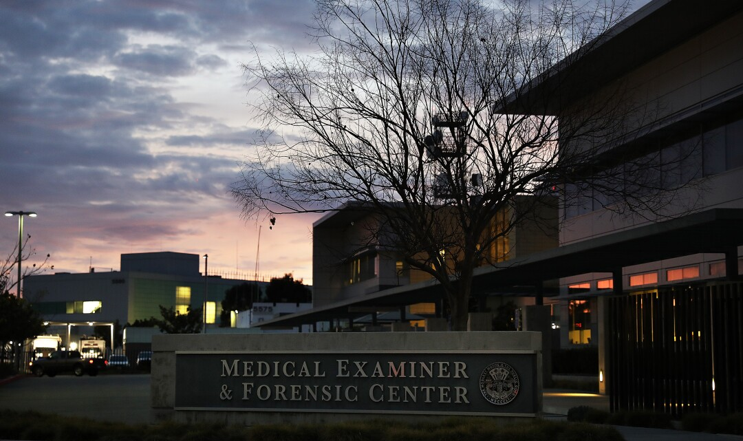 The San Diego County medical examiner's office.