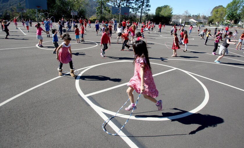 Dunsmore Elementary students participate in Jump Rope for Heart