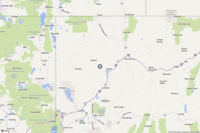 Earthquake: 3.0 quake strikes near Scossa, Nev.