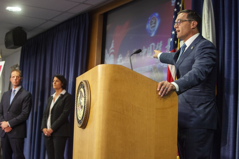 Assistant U.S. attorney Fred Sheppard, San Diego  FBI Special Agent Suzanne Turner and Acting U.S. Attorney for San Diego
