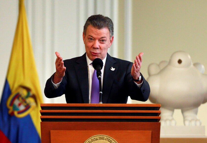 Juan Manuel Santos. REUTERS/John Vizcaino