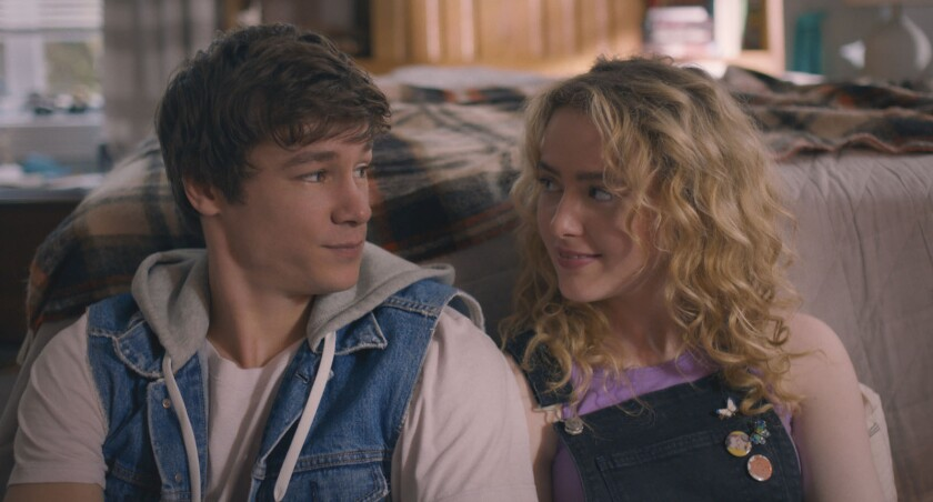 """Kyle Allen and Kathryn Newton in """"The Map of Tiny Perfect Things."""""""