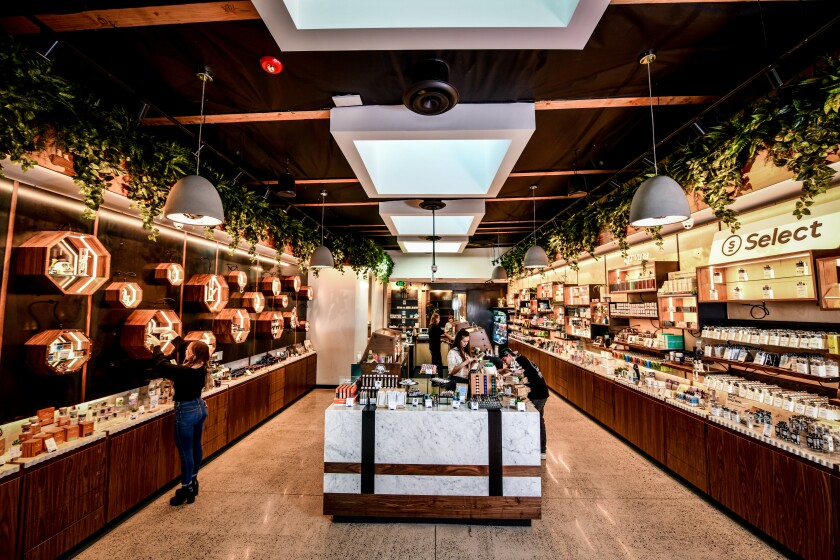 Columbia Care's San Diego dispensary at 4645 De Soto St. in Pacific Beach offers a virtual shopping experience for cannabis products.