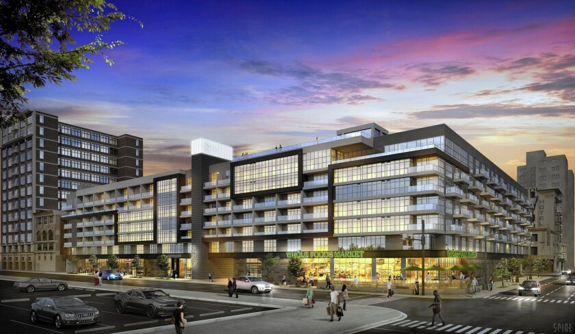 Units at the Eighth & Grand complex in downtown Los Angeles will range from 516 square feet to 1,323 square feet. Rent will start at $2,000 a month for a studio apartment.