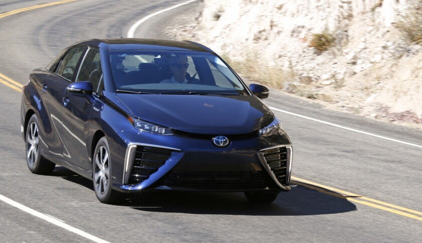Toyota's Mirai is a well-made, long-range, zero-emission electric sedan. But it's powered by a hydrogen fuel cell system, which means fuel stations are few and far between.