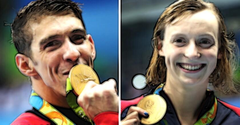 Michael Phelps y Katie Ledecky.. 'jefes' de la natación mundial.