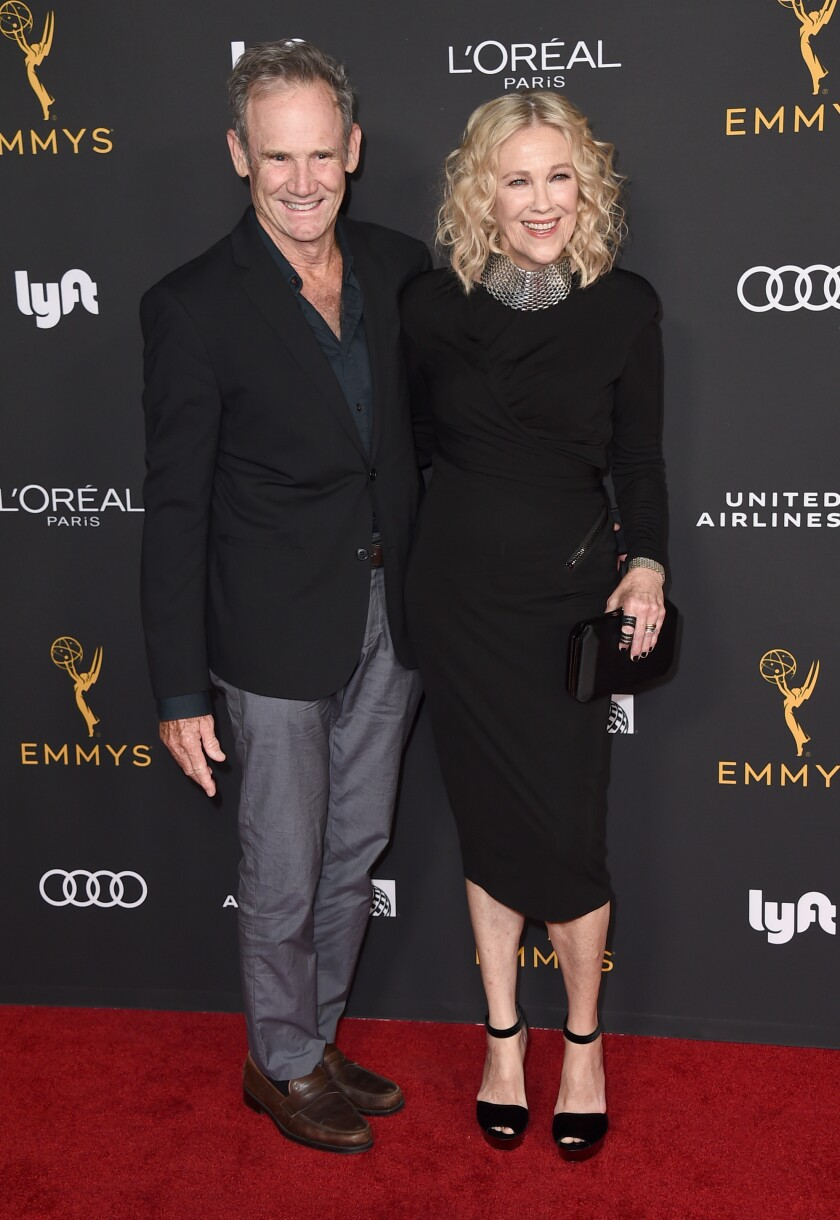 """Bo Welch and Catherine O'Hara, an Emmy nominee for """"Schitt's Creek,"""" at the 2019 Performers Nominee Reception."""