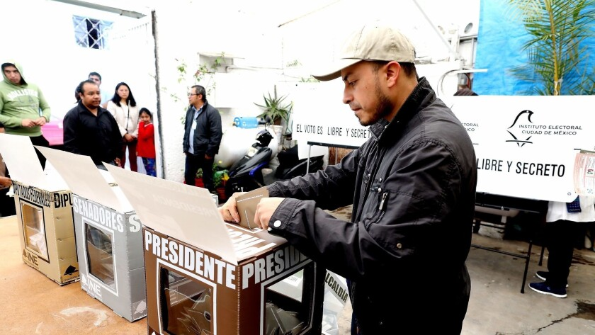 MEXICO CITY - - SUNDAY, JULY 1, 2018: Mexicans go to the polls to vote for a new president on Electi