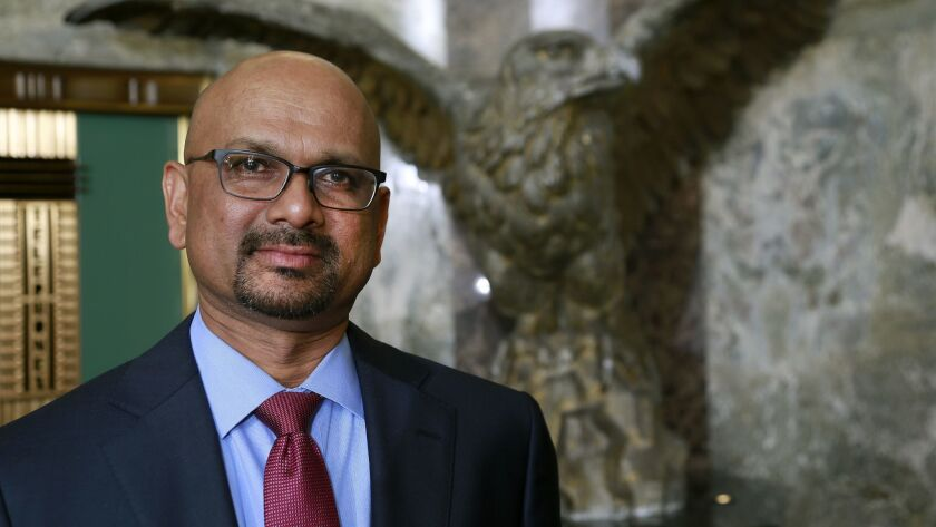 Davan Maharaj, former publisher and editor of the Los Angeles Times.