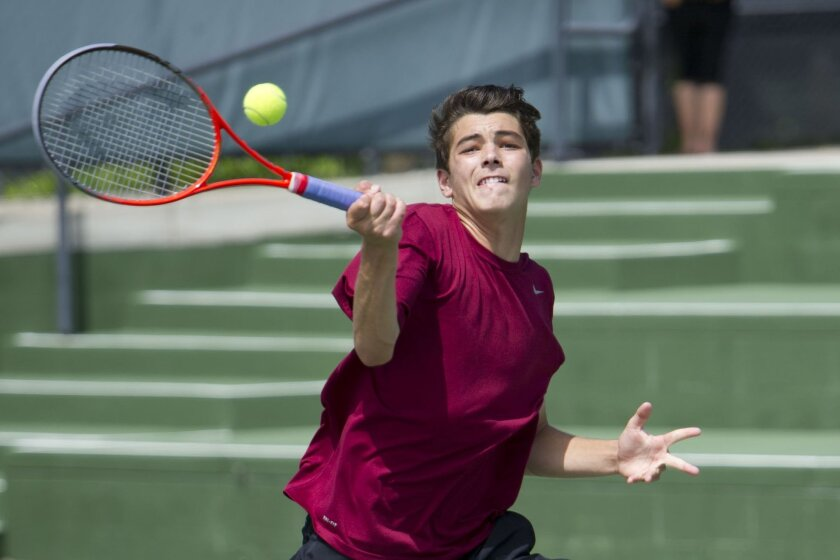Torrey Pines freshman Taylor Fritz helped the Falcons finish with a 22-0 record and the 17th boys tennis team championship in school history.