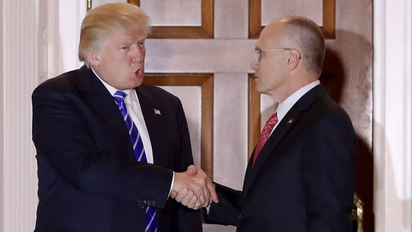 Donald Trump and Andy Puzder