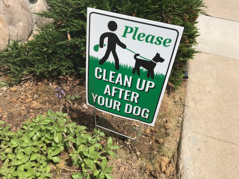 It seems to Inga that signs like this only encourage some dog owners to do the opposite.