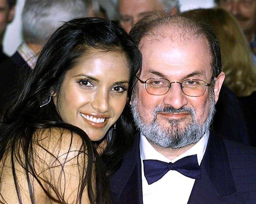 Salman Rushdie and Padma Lakshmi