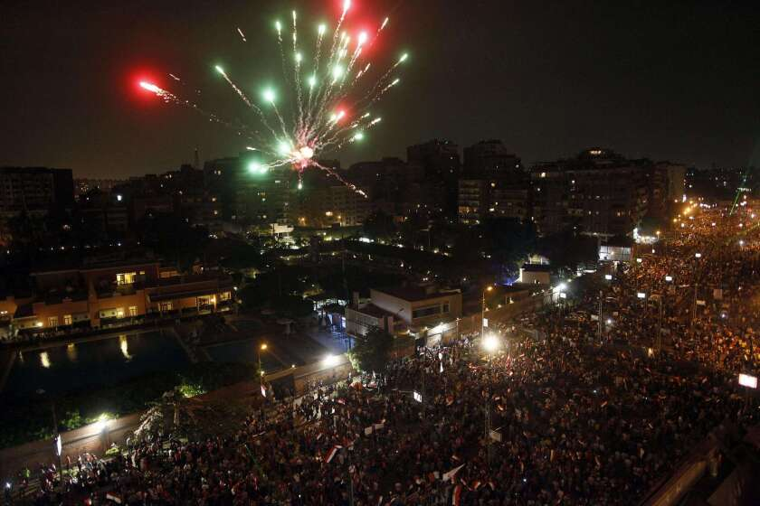 Egyptians thronging central Cairo were jubilant over the military coup that deposed President Mohamed Morsi, but the hopes of millions of Islamists have been dashed.
