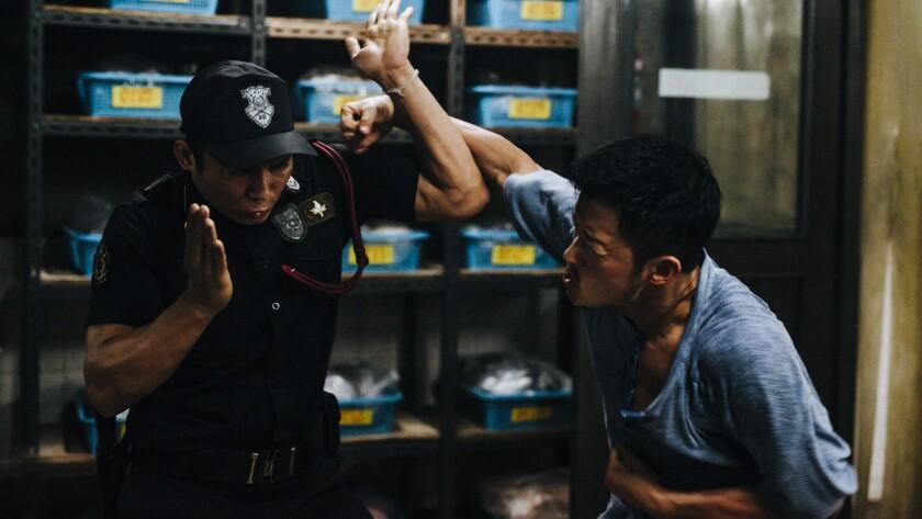 """Tony Jaa, left, and Wu Jing in """"Kill Zone 2."""""""