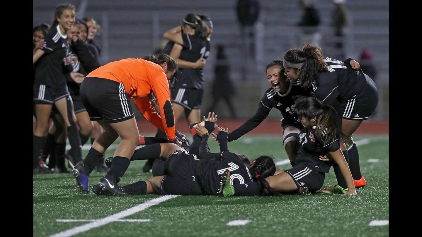 Photo Gallery: Los Amigos vs. Pasadena Westridge in the CIF Southern Section Division 5 girls' soccer championship match