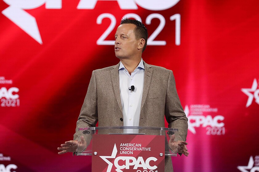 Ric Grenell speaks at the Conservative Political Action Conference in Orlando, Fla., on Saturday.