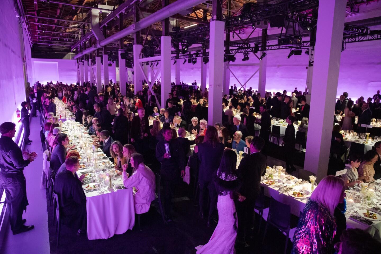 The dinner scene at the 2019 MOCA benefit Saturday.