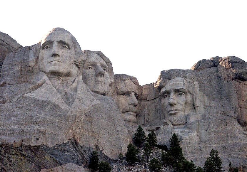 Room for one more? Americans were asked which face they would like to add to Mt. Rushmore National Monument in an Expedia poll.