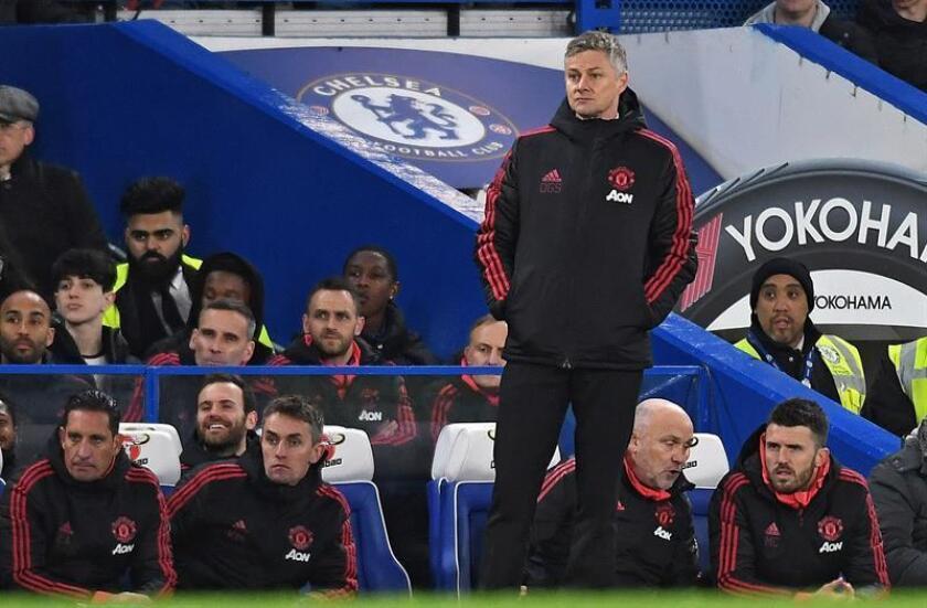 El entrenador de Manchester United, Ole Gunnar Solskjaer, durante un partido. EFE/Archivo
