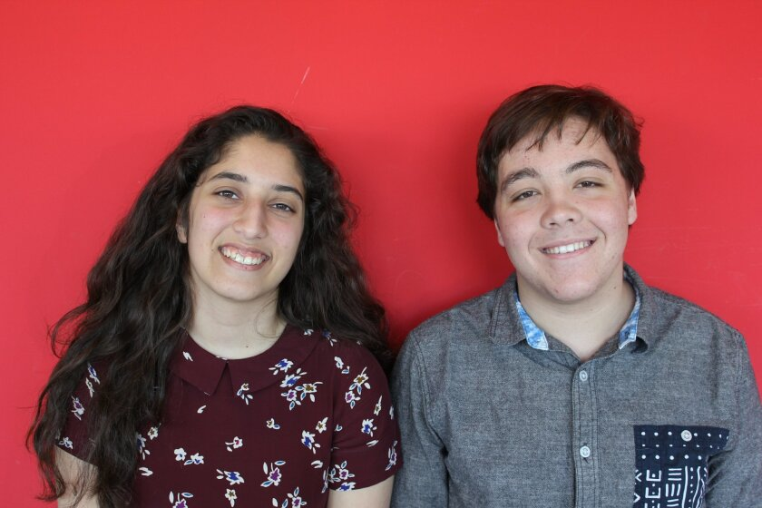 Gabi Yamout, left, and Jacob Goldschlag, are LCC student debaters who will compete in April at the prestigious Tournament of Champions debate competition at the University of Kentucky.