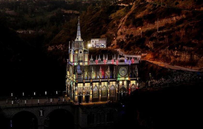 Fotografía del 15 de octubre de 2018, del Santuario de Las Lajas, ubicado en Ipiales en el departamento de Nariño (Colombia). EFE