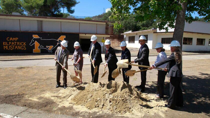 MALIBU, CA.-SEPT. 12, 2014: Los Angeles County Supervisor Zev Yaroslavsky, fourth from left, leads