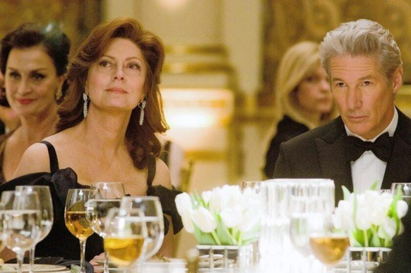 "Susan Sarandon and Richard Gere in ""Arbitrage."""